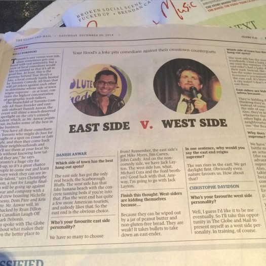 Repping eastside - Globe & Mail